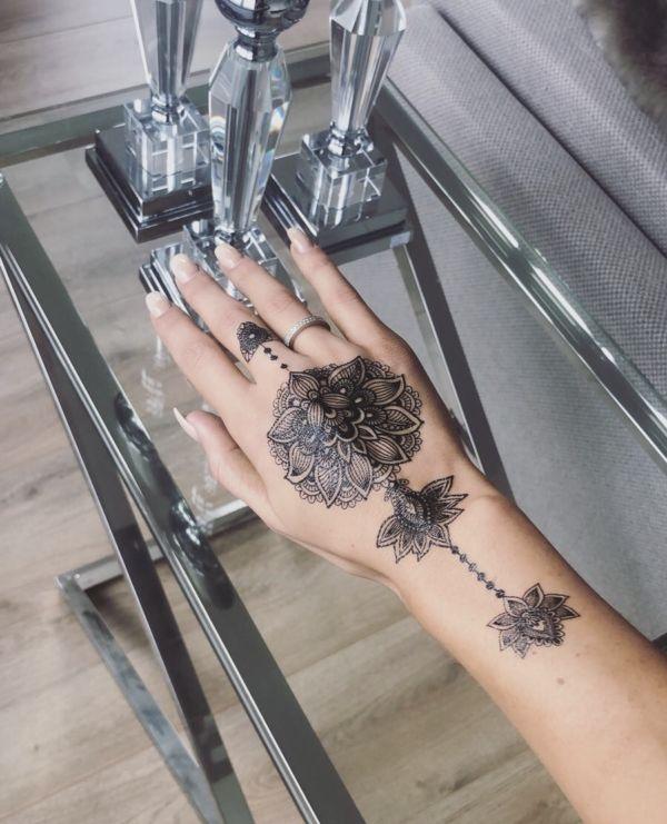 Tijdelijke Flash Tattoo Zwart - Underboob