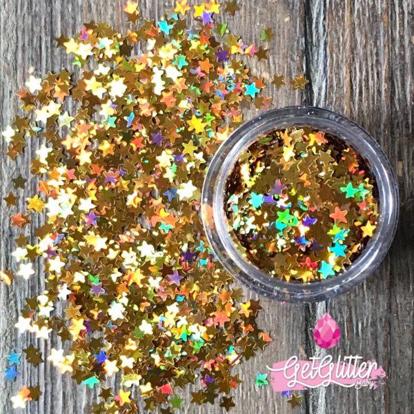 Gouden Glitters Gezicht