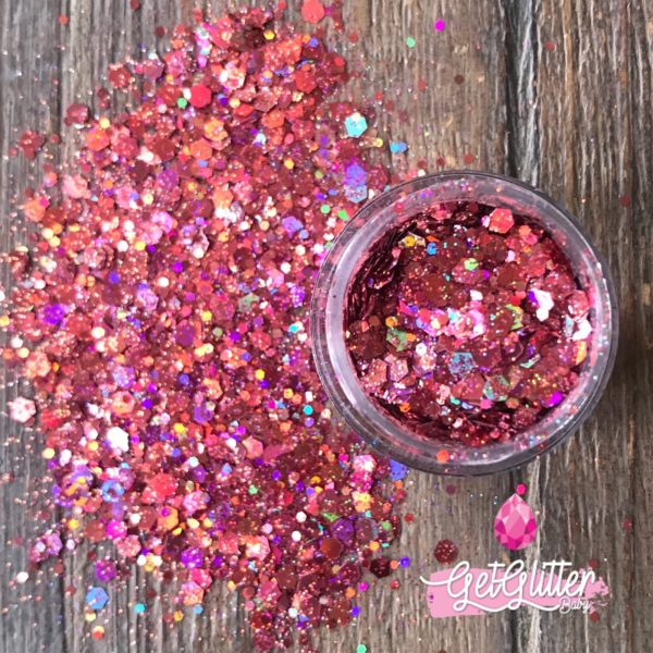 Roze Glitters Gezicht