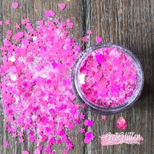 Roze Glitter