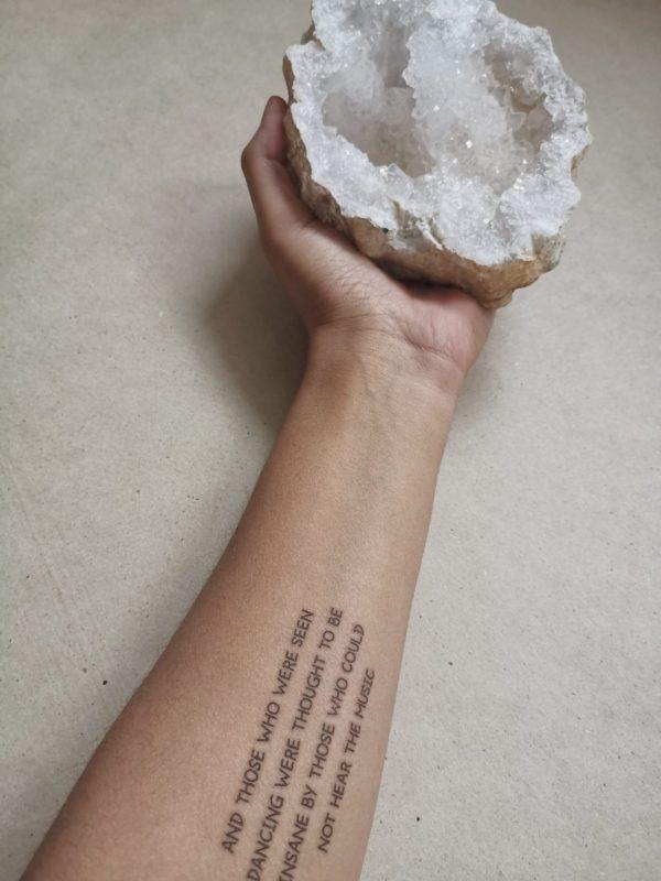 Tijdelijke Tattoo Tekst
