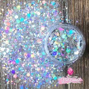 Glitters Gezicht Zilver