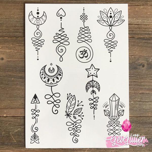 Plak Tattoo Unalome
