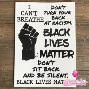 Plak Tattoo Black Lives Matter