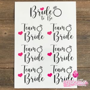Bride to be versiering