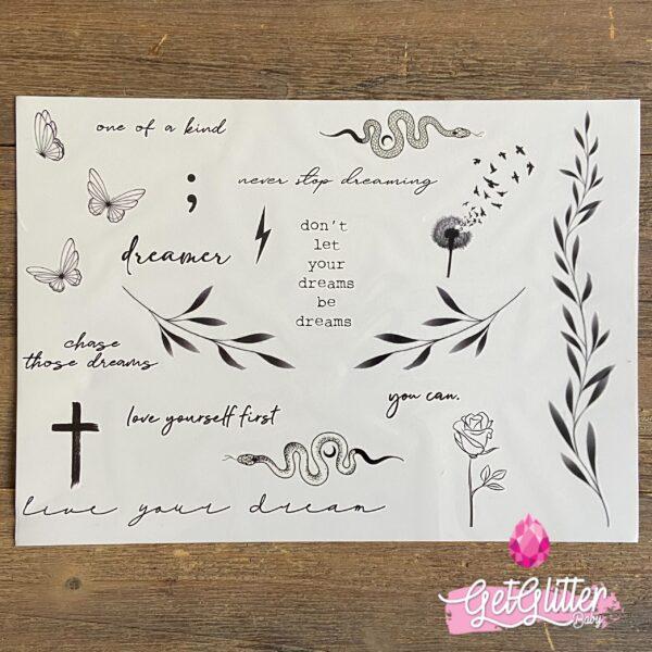 Plak Tattoo blaadjes