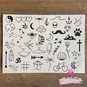 Plak Tattoo Kleine Afbeeldingen
