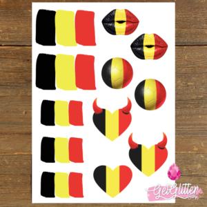Belgische Vlag Tattoos