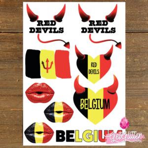 Plak Tattoos Belgische Vlag
