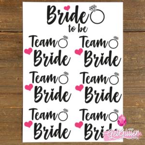 Team Bride Versiering