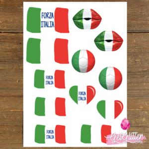 Italiaanse Vlag Tattoos