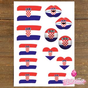 Kroatische Vlag Tattoos
