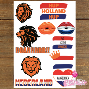 Plak Tattoos Nederlands Elftal