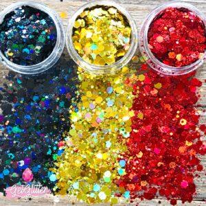 Smink Glitters Belgische Vlag