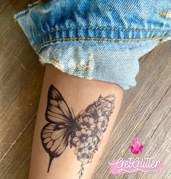 Plak Tattoo Vlinder