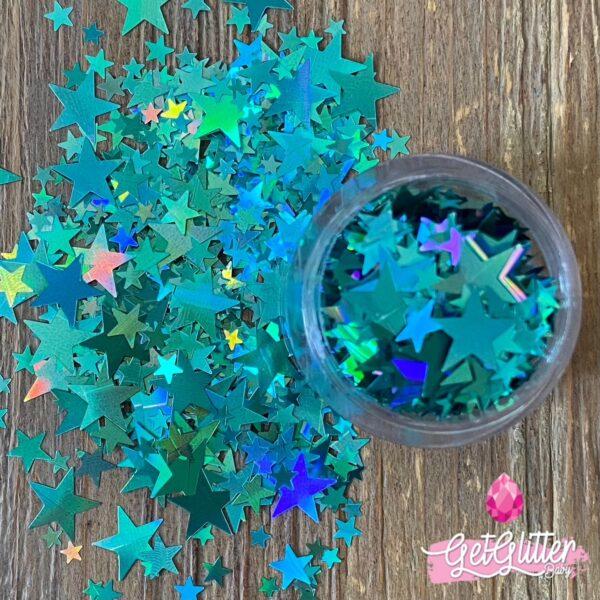 Glitter Sterretjes Blauw