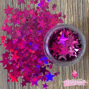 Glitter Sterretjes Roze