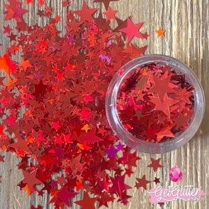 Glitter Sterretjes Rood
