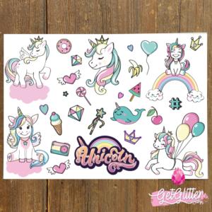 Unicorn Plak Tattoos